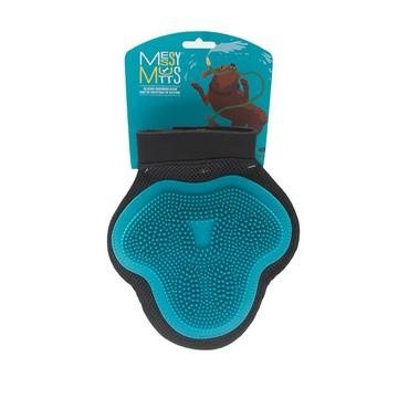 Messy Mutts Messy Mutts - Grooming Glove Blue Silicone