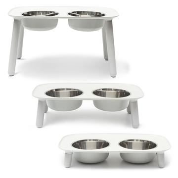 Messy Mutts Messy Mutts - Elevated Double Feeder w/ Bowls