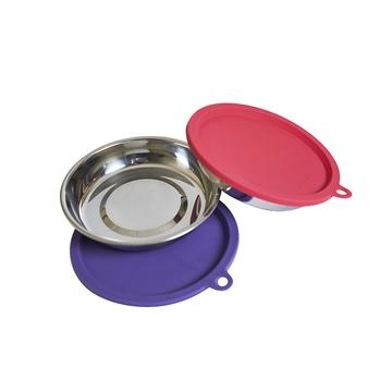 Messy Mutts Messy Cats - 4pc Stainless RAW Bowl & Cover Set