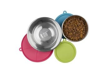 Messy Mutts Messy Mutts - 6pc Stainless  RAW Bowl & Cover Set