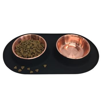Messy Mutts Messy Mutts - Copper Double Silicone Feeder