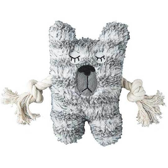 "Patchwork Pet Patchwork Pet - Greybar 6"" Squeak & Rope Toy"