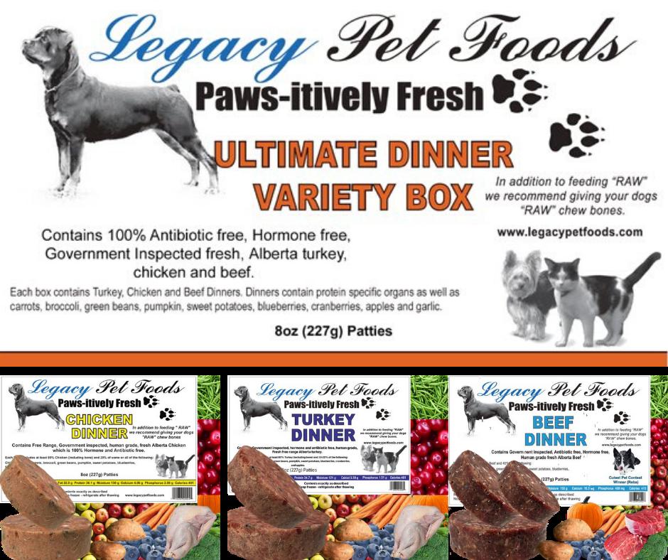 Legacy Pet Foods Legacy-Ultimate Variety 25lb Bulk Case (1/2lb patties)