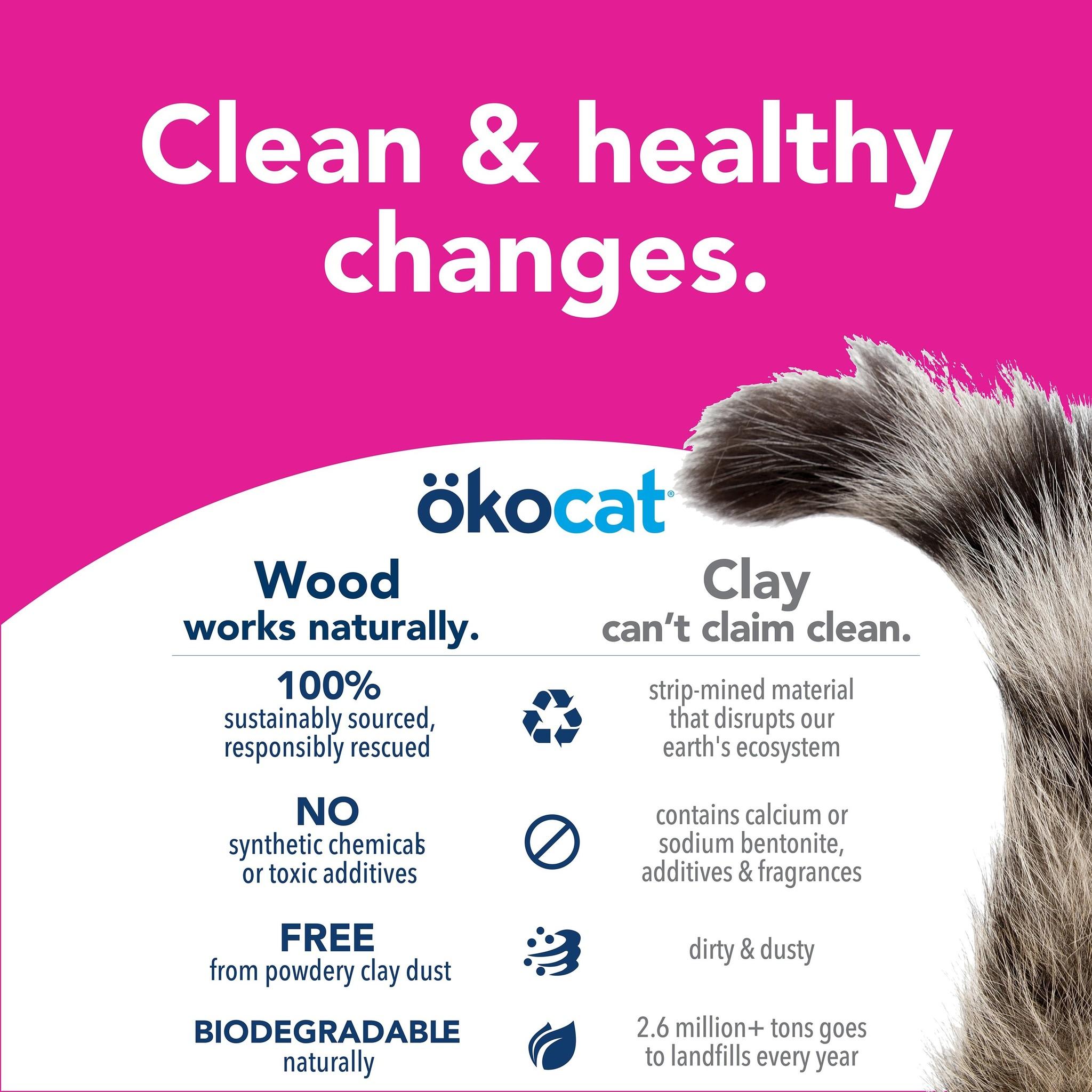 OkoCat OkoCat- Natural Wood Soft Step Clumping Litter 11.2lb