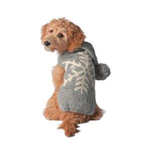 Chilly Dog Sweaters - Alpaca Snowflake Hoodie