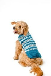 Chilly Dog Sweaters Chilly Dog Sweaters - Alpaca Teal Fairisle