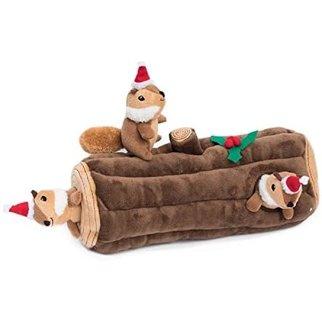 Zippy ZippyPaws Holiday Burrow-  Yule Log w/Chipmunks