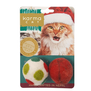 Karma Cat - Holiday Ball 2 Pack Cat Toys