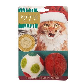 Dharma Dog Karma Cat Karma Cat - Holiday Ball 2 Pack Cat Toys