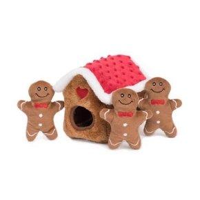 ZippyPaws Holiday Burrow - Gingerbread House