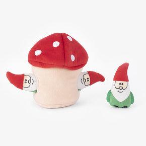 ZippyPaws Holiday Burrow - Gnomes in Mushroom