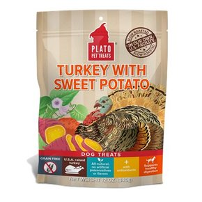 Plato Pet Treats Plato-Real Strips GF Treats 6oz