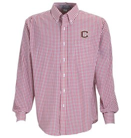 Vantage Vantage Poplin Gingham Shirt Red