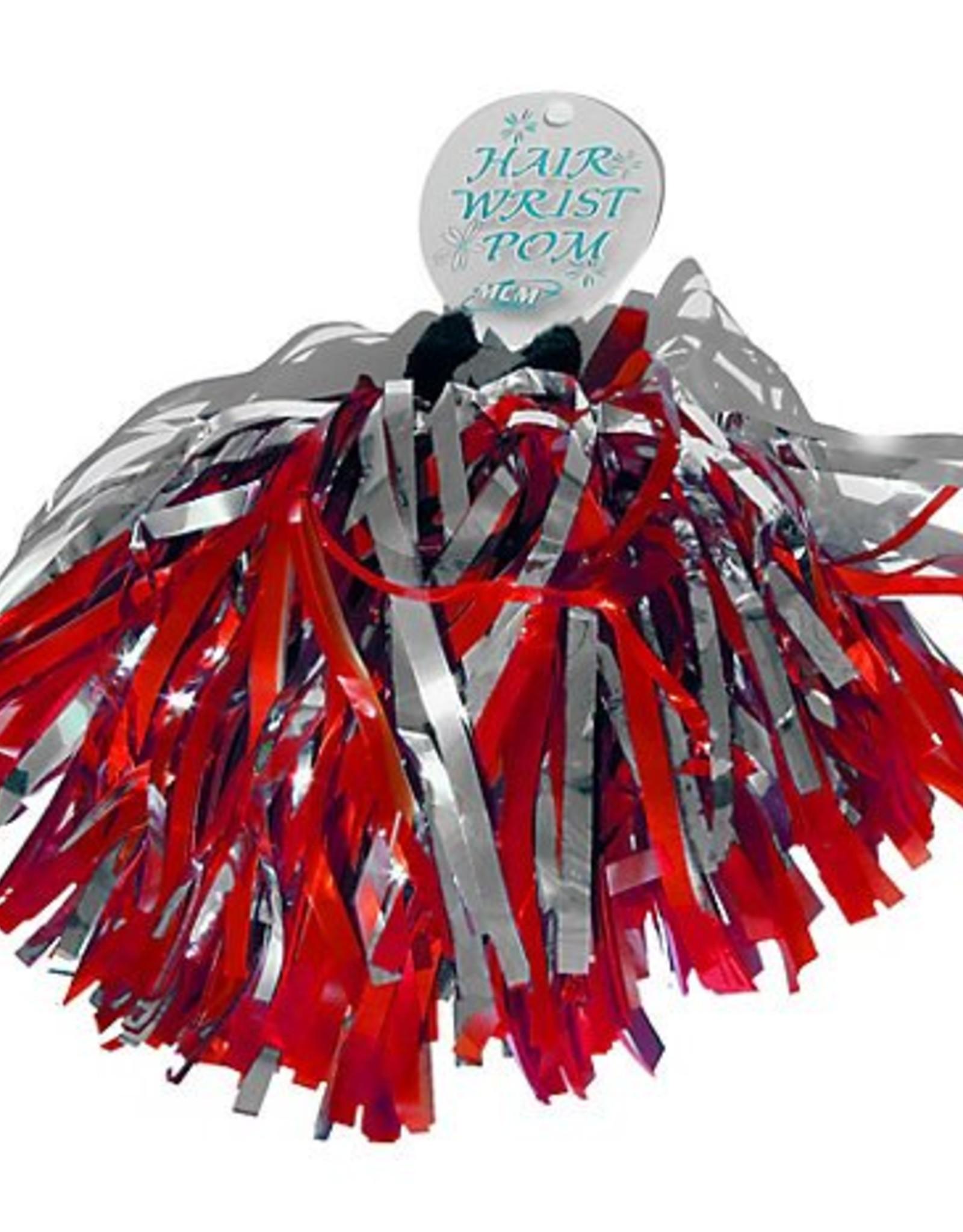 MCM MCM Wrist/Hair Pom red silver