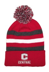 GAME Game Pom Stocking Hat New C Red/Gray