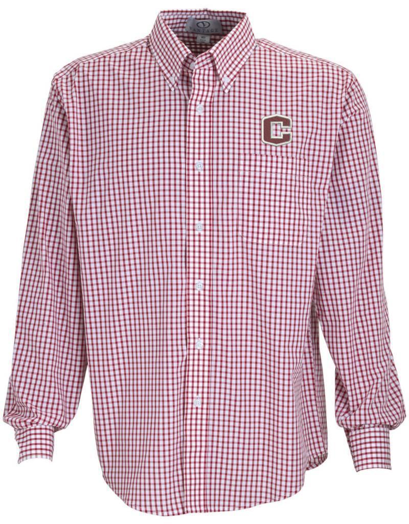 Vantage Vantage Poplin Gingham Shirt
