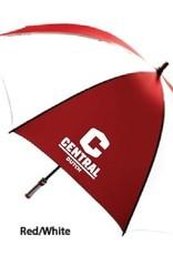 "KASA Kasa Umbrella 63"" Red/white golf w C logo"