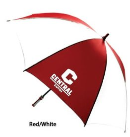 "KASA Kasa Umbrella 63"" Red/white golf w C logo"