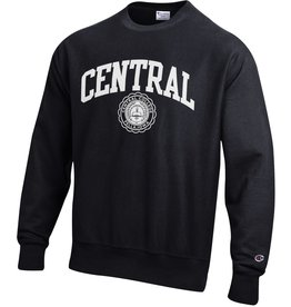 CHAMP Champion Reverse Weave Crew Black Central Seal