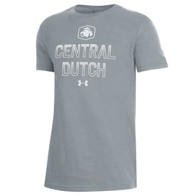 UA UA Youth Performance Lion Tee Gray
