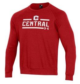 UA UA All Day Fleece Crew Red