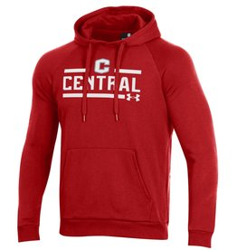 UA UA All Day Fleece Hood Red