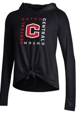 UA UA Women's Pinhole Tie Hood Black