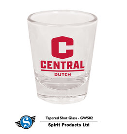 SPIRIT PRODUCTS Spirit Products Clear Shot Glass C Logo