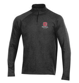 UA UA Charged Cotton 1/4 Zip Black Novelty