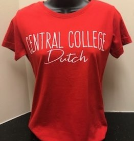 College House College House Tee Red CC Dutch Cursive