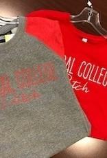 College House College House Fleece Cursive Raglan Gry/Red