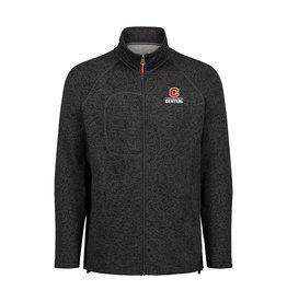 MVSPT MV Sport Men's Full Zip Sweater Asphalt