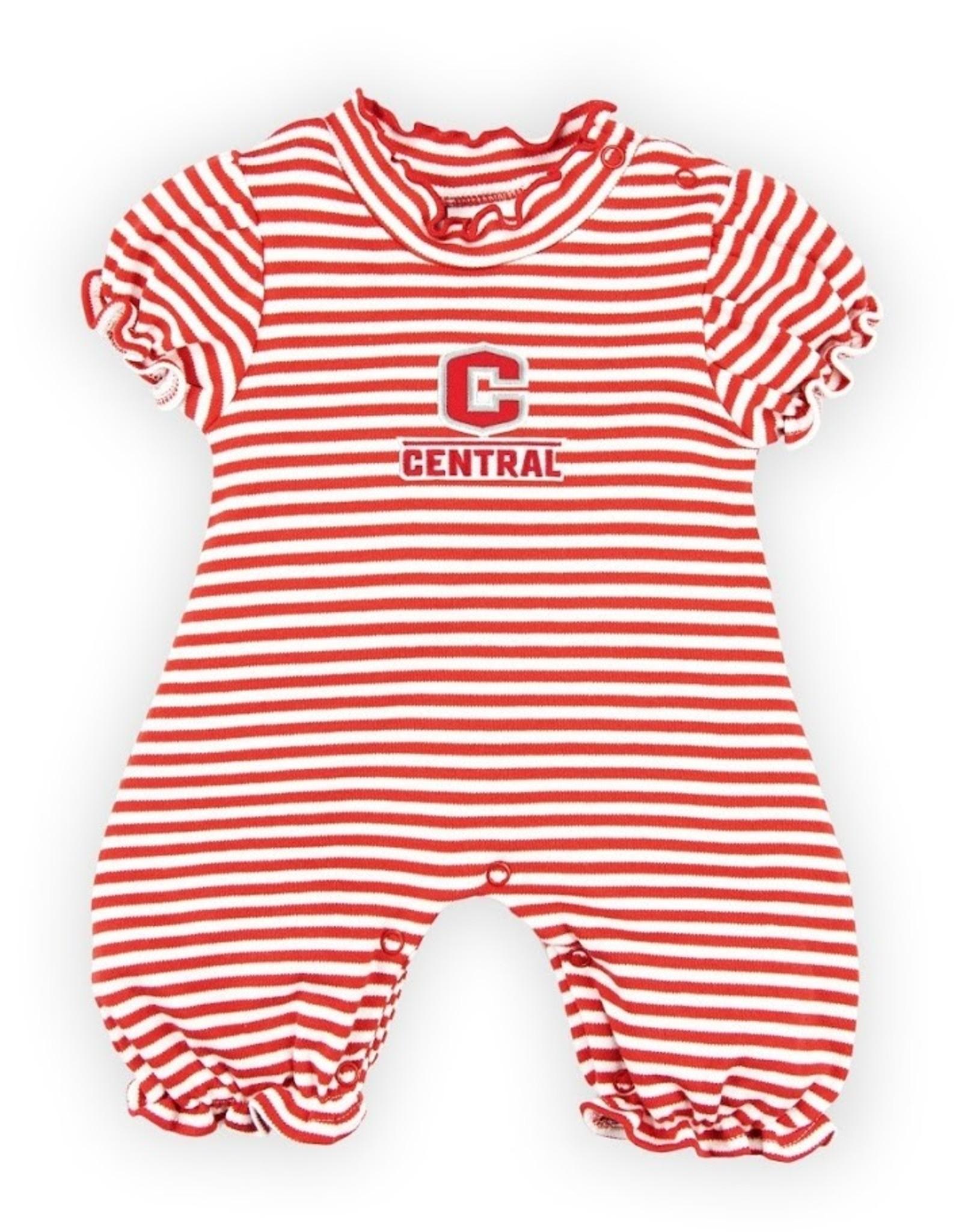 Creative Knitwear Creative Knitwear Bubble Romper Red/Wht