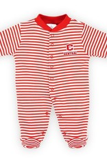 Creative Knitwear Creative Knitwear Footed Romper Red/Wht Stripe