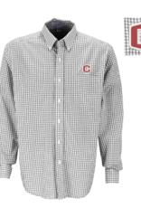 Vantage Poplin Gingham Shirt Gray