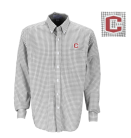 Vantage Poplin Gingham Shirt Gray