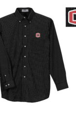 Vantage Vantage Poplin Gingham Shirt Black