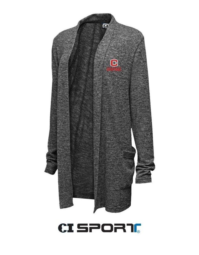 CISPO CI Sport Easy Fit Cardigan Marble Black