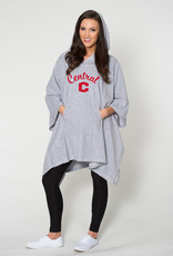 Flying Colors Flying Colors Fleece Poncho Gray