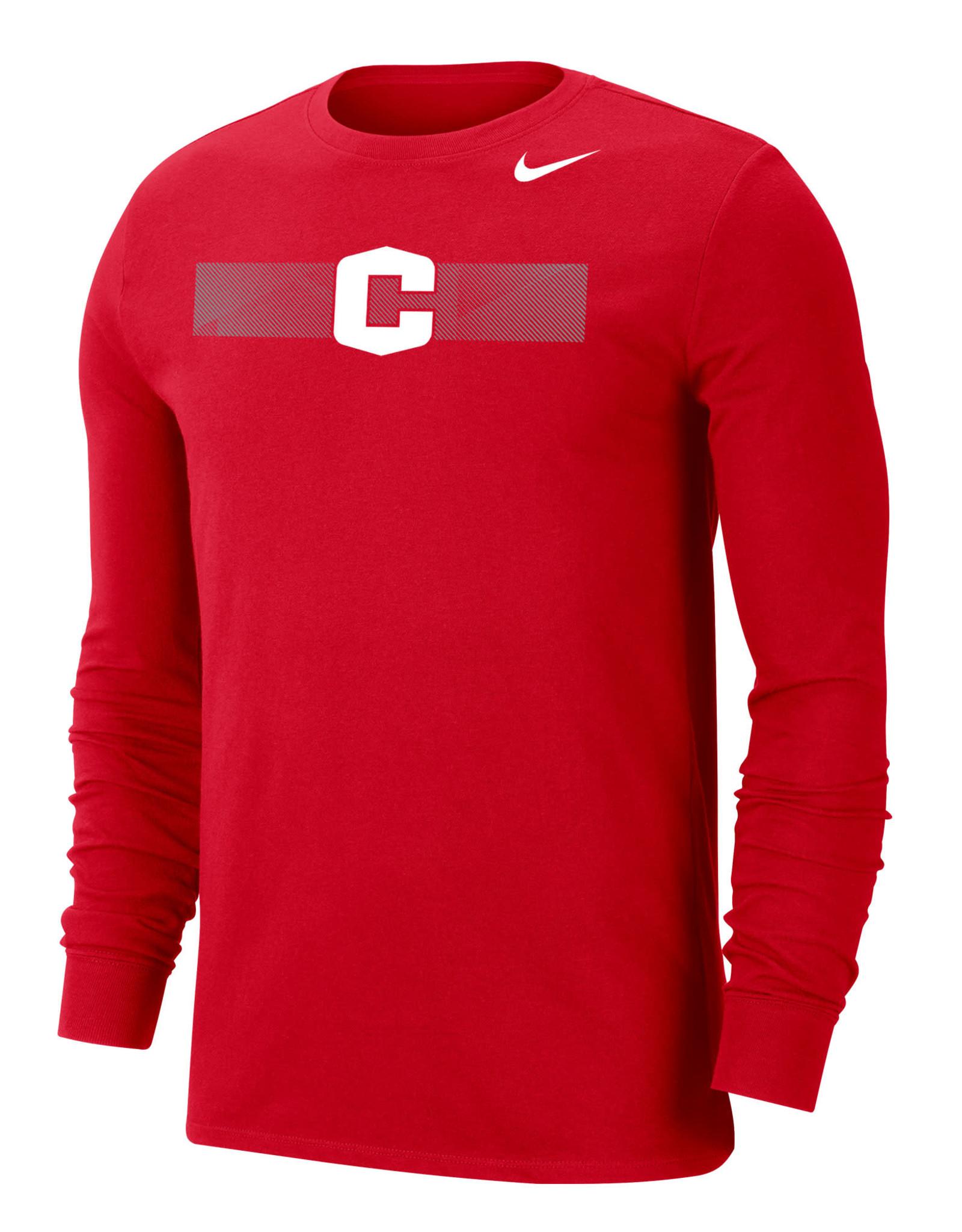 Nike Nike Dri-Fit LS Tee Red