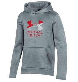 UA UA Youth Armour Fleece Gray UA Stripes