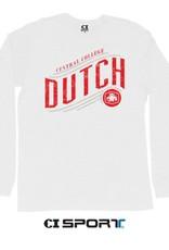 CISPO CI Sport Dutch Slant Tee LS White