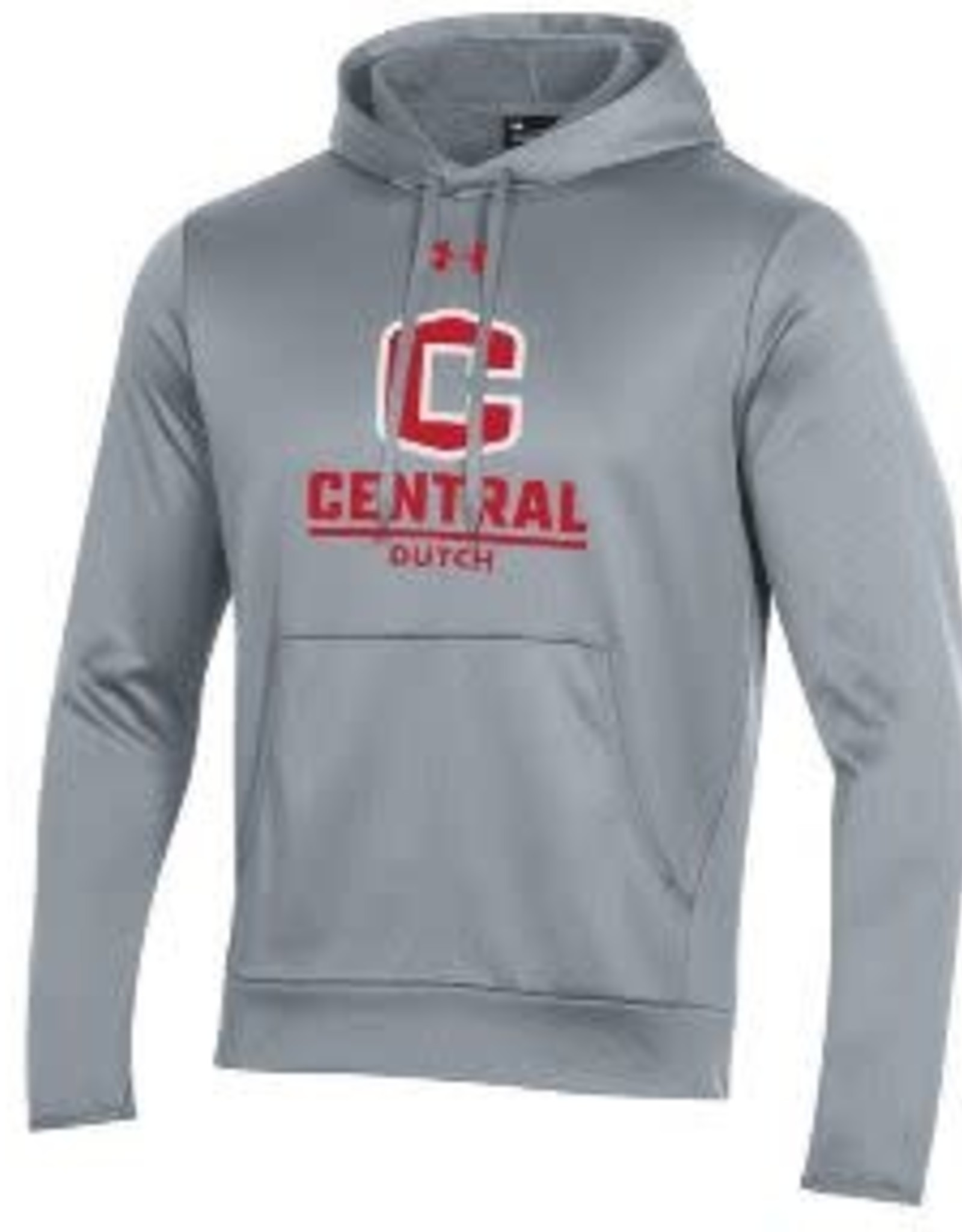 UA UA Armour Fleece Hood C Logo True Gray