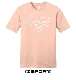 CI Sport CI Sport Heart Central Tee Pink