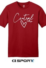 CI Sport CI Sport Heart Central Tee Red