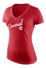 Nike Nike V-neck Women's Tee Red