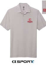 Port Authority CI Sport Gingham Polo C Logo Gray