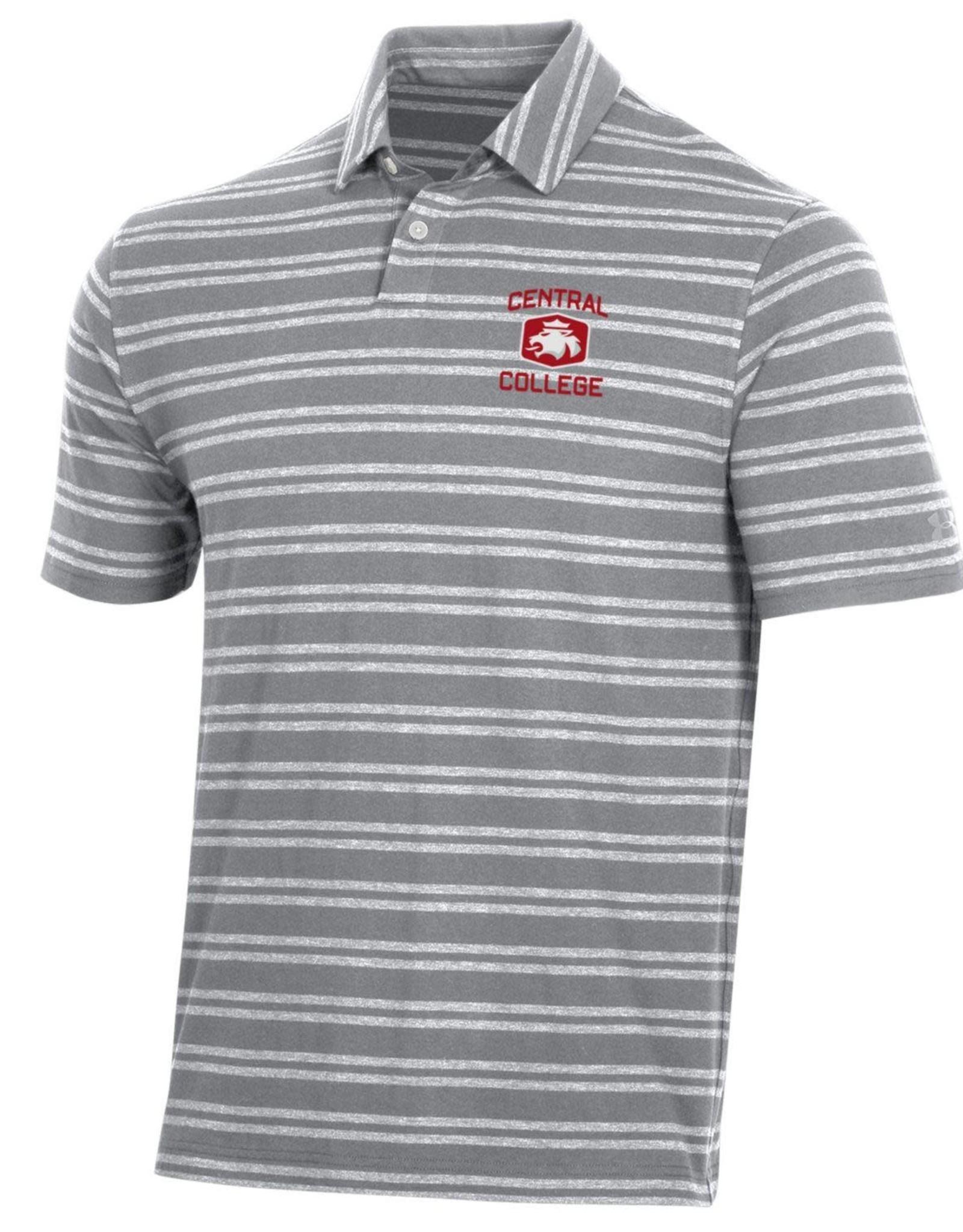 UA UA Charged Cotton Stripe Gray