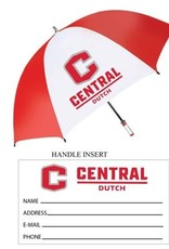 """Storm Duds Storm Duds Red White 62"""" Golf Umbrella"""