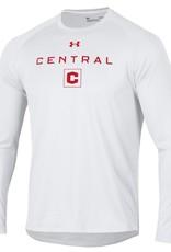 UA UA Tech Tee Central C Box LS White